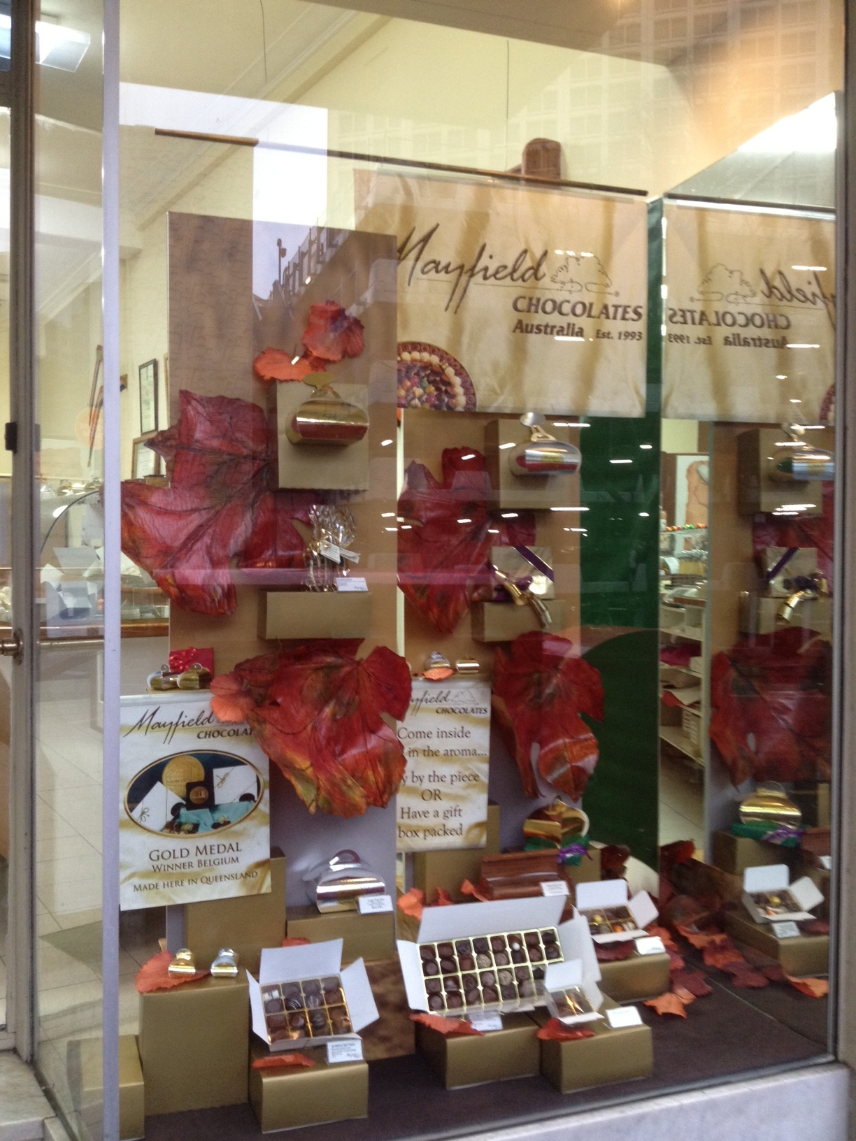 Brisbane's most delicious Chocolates and Visual Merchandising to match. Thank you Mark Reese.