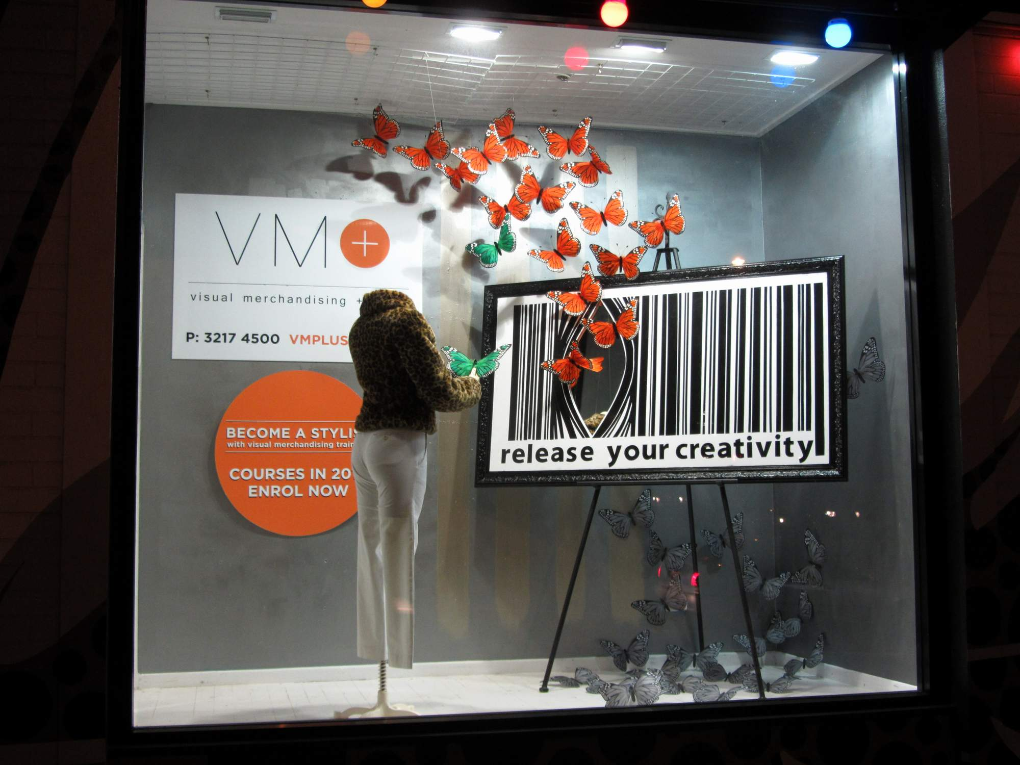 Release your creativity : window display by VM+ graduate Wendy July 2012