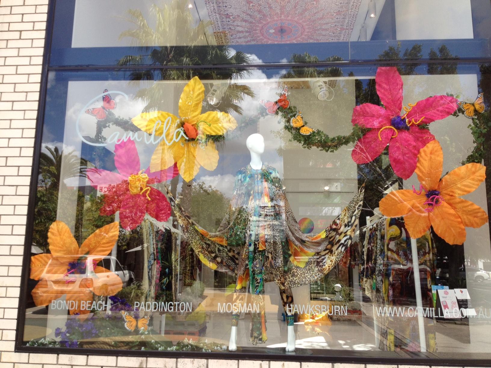 Camilla James Street Brisbane and VM+ Spring Summer window 2012