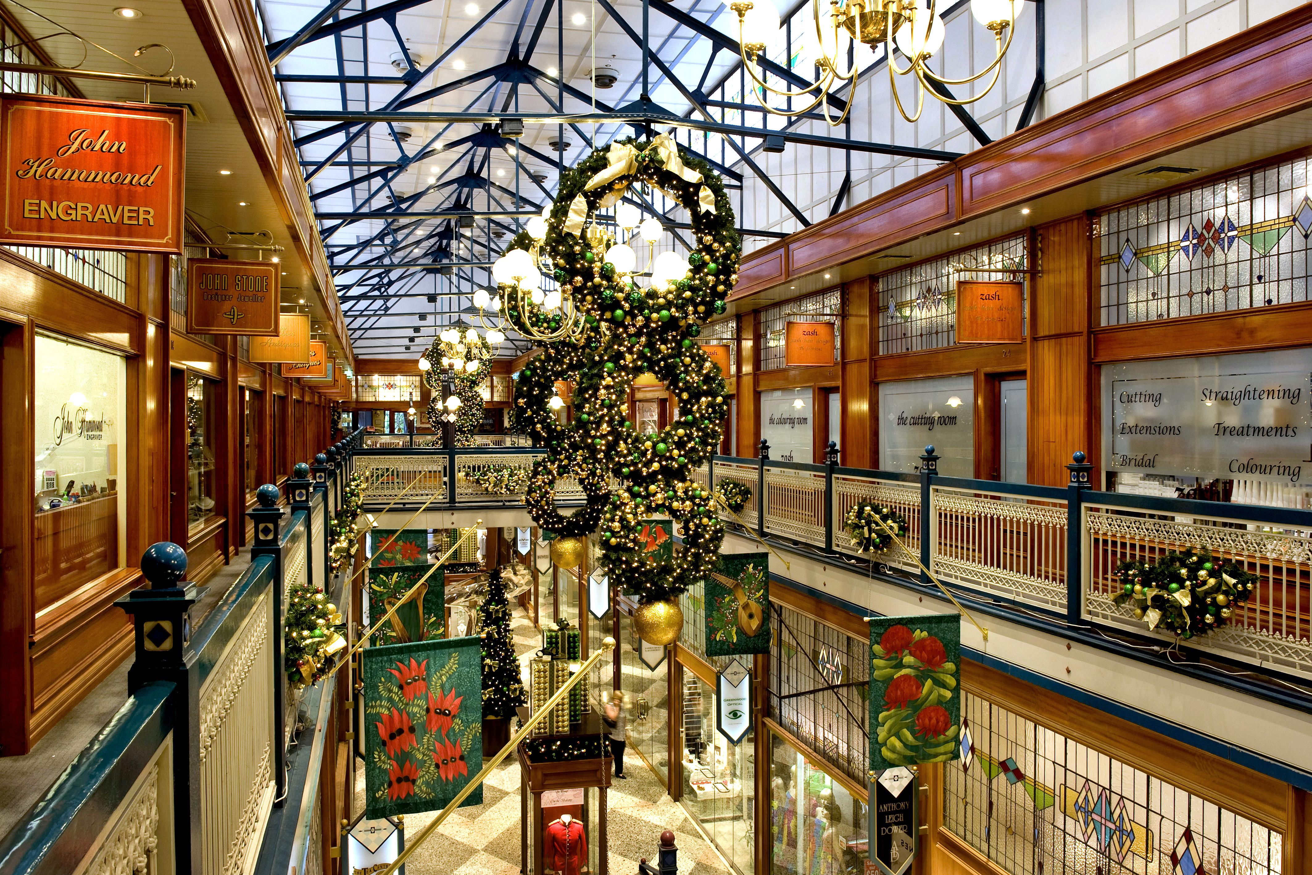 Christmas decorations in Brisbane Arcade 2011