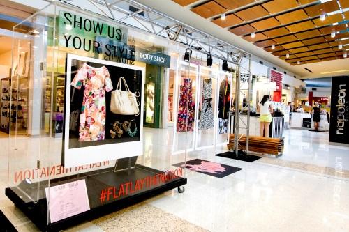 Flatlay retail display - Westfield Helensvale