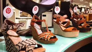 Nordstrom VM using Pinterest in shoe window display