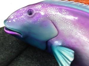 Parrot fish custom built element for underwater display