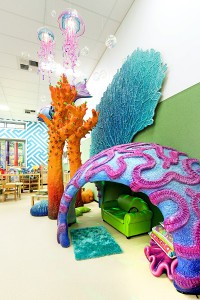Brain coral cubby house feature