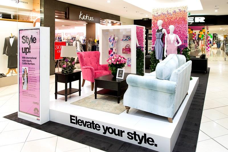 Myer Centre Brisbane CBD SS14 floral VM display