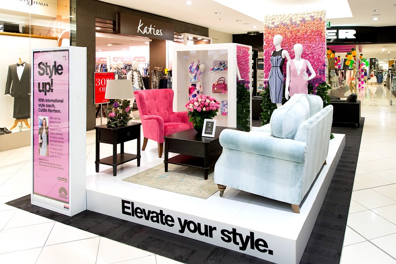 Myer Centre Brisbane CBD SS14 floral VM display