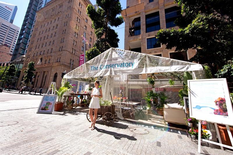 Queens Plaza Brisbane CBD SS14 floral conservatory