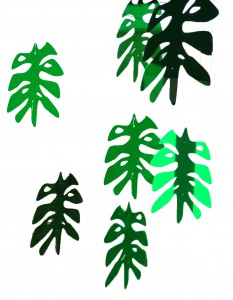 Perspex Green Leaves