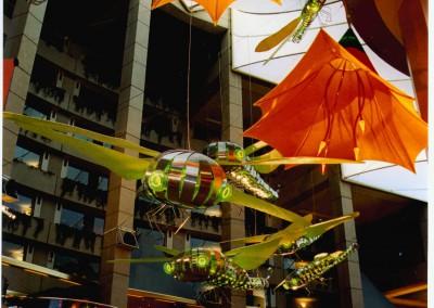 Atrium design and display dragonflies at Jupiters casino