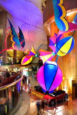 Atrium display Hummingbirds custom design