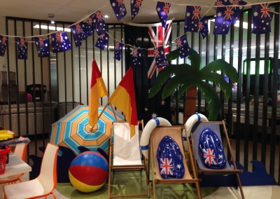 Australia Day celebration corporate display