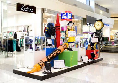 Back to School promotional display at Westfield