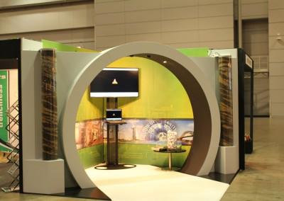 Bothar tunnel custom built trade stand