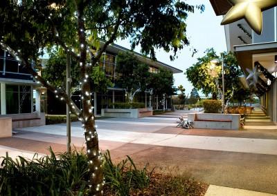 Brisbane Airport Skygate illuminated trees