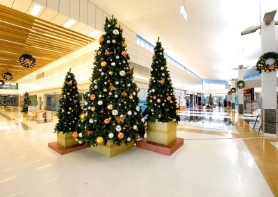 Brisbane Airport Skygate shopping centre Christmas trees