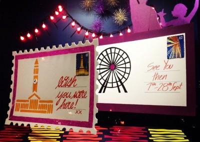 Brisbane Festival promotion window display