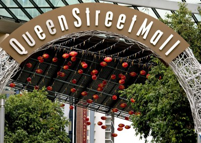 Brisbane Queen Street Mall Show Your Colours outdoor installation