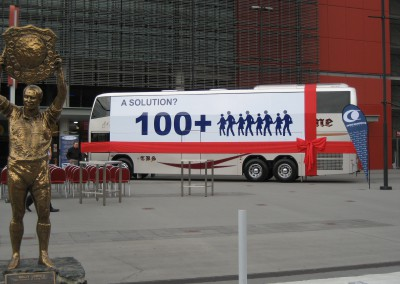 Bus reveal launch at  Suncorp Stadium