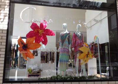 Camilla James Street store window  dressing VM fashion