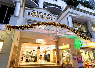Chevron Renaissance Christmas facade