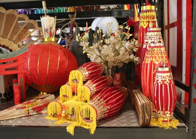 Chinese New Year Asian restaurant themed display