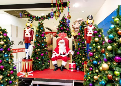 Deception Bay Santa throne and nutcrackers