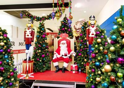 Deception Bay Santa throne and nutcrackers