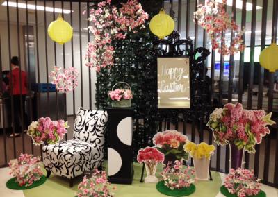 Easter floral display at Treasury Casino