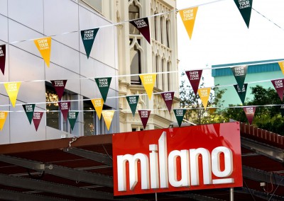 Show Your Colours Brisbane CBD promotional bunting display