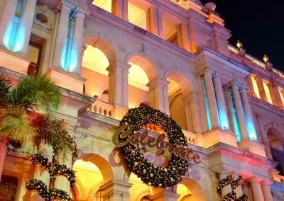 Treasury Casino Brisbane Celebrate Christmas wreath
