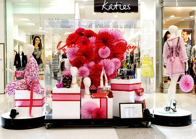 Valentines Day visual merchandising at Westfield shopping centre