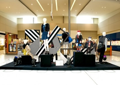 Westfield Helensvale Autumn Winter black white geometric design