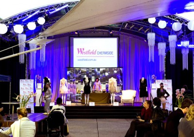 Westfield fashion event styling display at QPAC