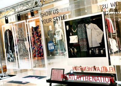 Westfield flatlay fashion visual merchandising