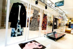 Flatlay fashion visual merchandising