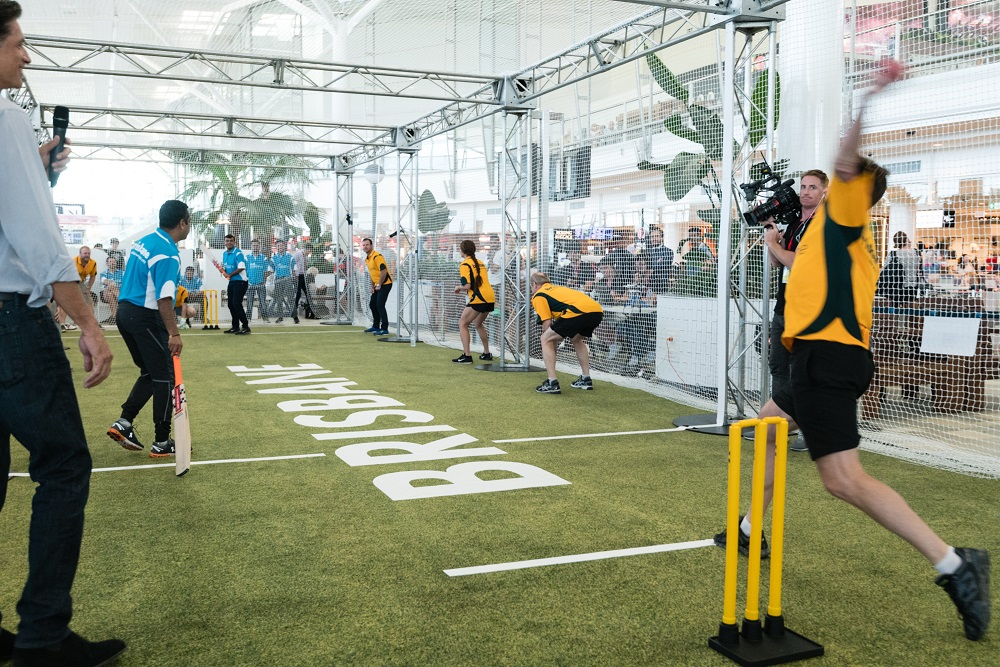 World First Airport Terminal Cricket Match
